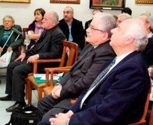 Ο Αναπληρωτής Υπουργός Πολιτισμού κ. Κώστας Τζαβάρας με τον Πρόεδρο της ΕΕΛ κ. Λευτέρη Τζόκα